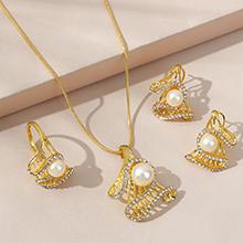 欧美百搭创意个性复古流行珍珠套装