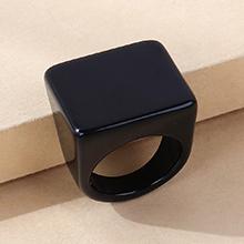 韩版简约百搭流行树脂戒指(黑色)