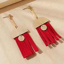 欧美创意百搭潮流个性耳环(红色)