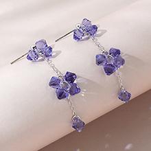 奥地利水晶耳环--波光粼粼(藕荷紫)