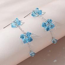 奥地利水晶耳环--波光粼粼(海蓝)