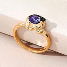 奥地利水晶戒指--魔力小象(藕荷紫)