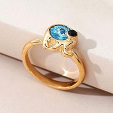 奥地利水晶戒指--魔力小象(海蓝)