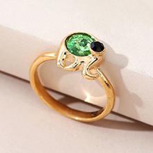奥地利水晶戒指--魔力小象(橄榄)