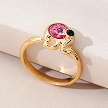 奥地利水晶戒指--魔力小象(玫红)