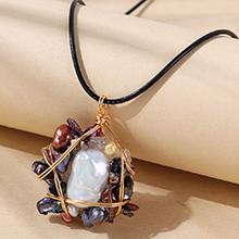 欧美复古百搭创意个性天然珍珠项链