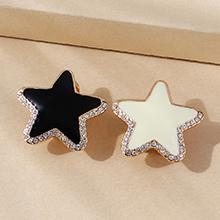 韩版小清新百搭创意大牌画油小星星耳环