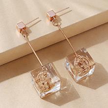 欧美百搭创意小清新简约树脂耳环