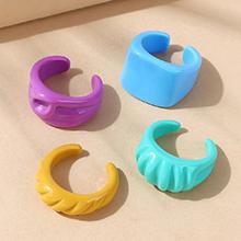 韩版简约百搭创意小清新树脂开口戒指套