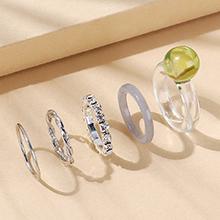 欧美小清新百搭小仙女创意树脂戒指套(绿色)