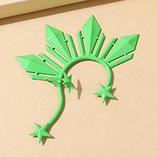 欧美创意气质大牌个性百搭单边耳环(绿色)
