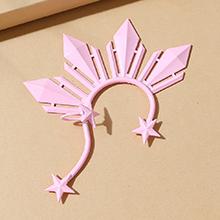 欧美创意气质大牌个性百搭单边耳环(粉色)