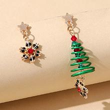 圣诞系列ins潮流行百搭创意爆款圣诞树不对称耳环