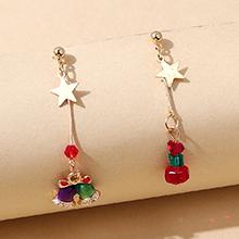 圣诞系列百搭创意爆款甜美小清新小铃铛耳环