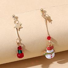 圣诞系列小清新甜美百搭创意雪娃娃耳环