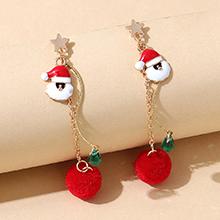 圣诞系列小清新百搭创意圣诞老人耳环