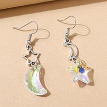 欧美小清新百搭创意时尚水晶星月耳环